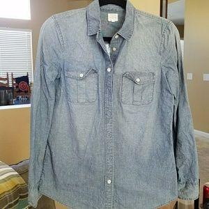 Sz. XS J. Crew 'The Perfect Chambray Shirt'